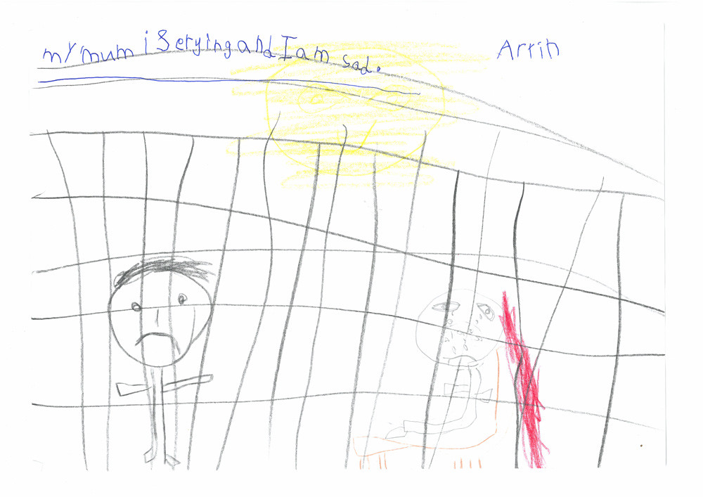 Drawings by children currently locked up in the Manus Island detention centre