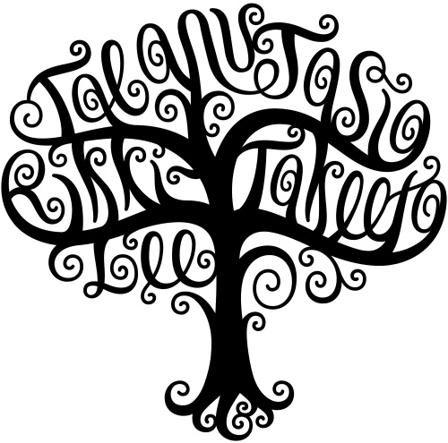 """Taeanu"", ""Jasia"", ""Rikki-Lee"", & ""Takeeta"" Tree Design"