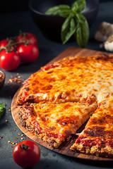 Healthy Homemade Quinoa Crust Cheese Pizza