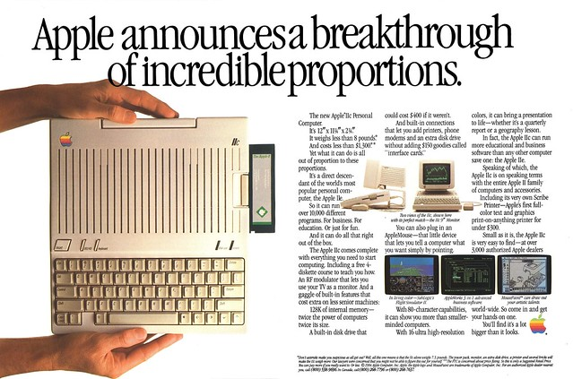 1984 Apple IIc ad