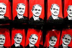 José Mourinho scarf at Manchester United Store