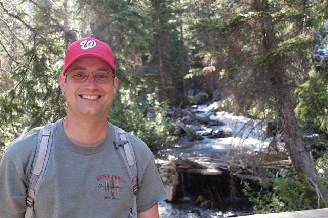 Kenan hiking on the Cascade Canyon Trail, Grand Teton