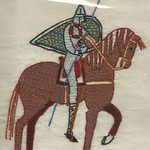 (Plastic-wrapped) From the Bayeaux Tapestry, by Stamford Bridge Tapestry Project