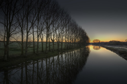 morning trees reflection water night sunrise reflections river dawn peace northamptonshire smooth relaxing peaceful calm clear predawn tranquil hdr nene ringstead hss photomatix