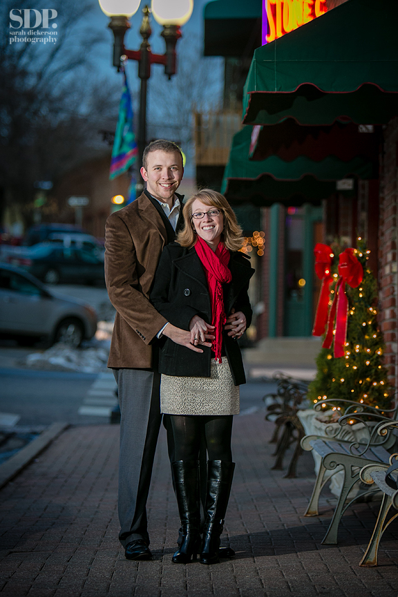 Parkville Missouri engagement session in the snow