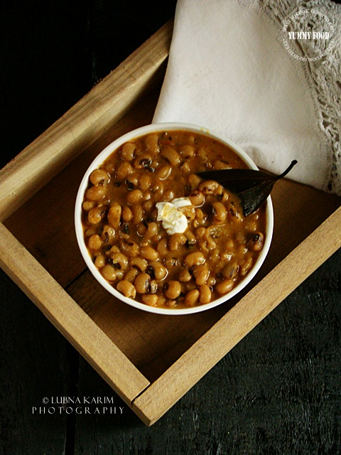 Punjabi Lobia Masala – 'Indian Style' Black Eyed Pea/Bean Curry
