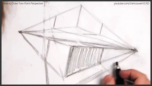 2D design how to draw in two point perspective 014