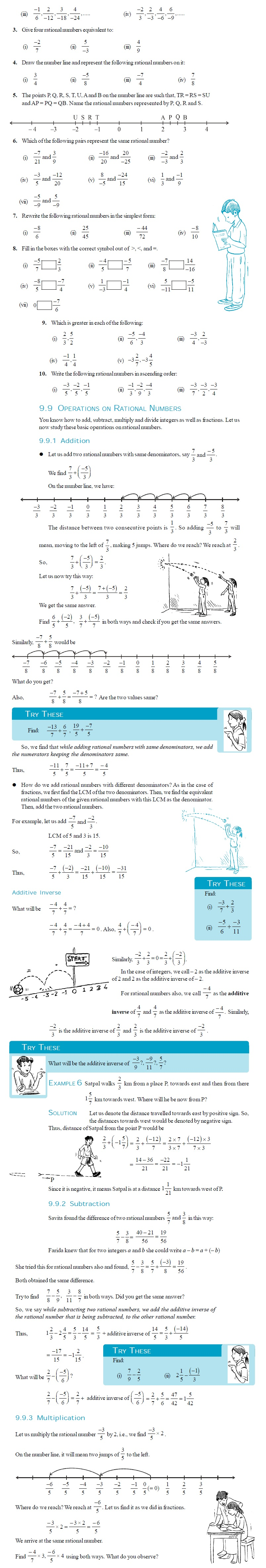 NCERT Class VII Maths Chapter 9 Rational Numbers