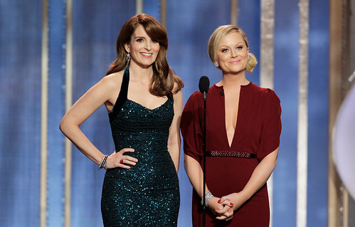 Tina and Amy onstage
