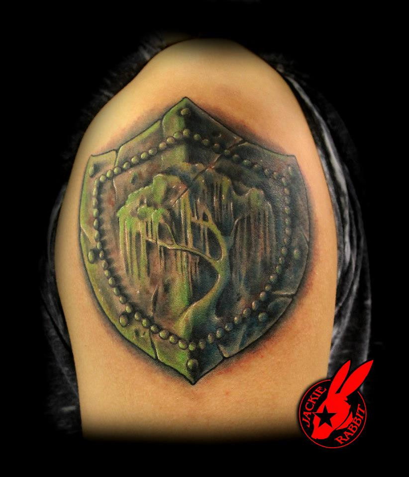 Willow tree shield tattoo by jackie rabbit a photo on for Willow tree tattoo