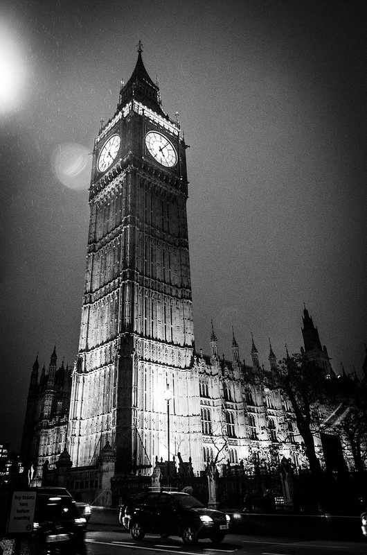 Big Ben London Rain Night