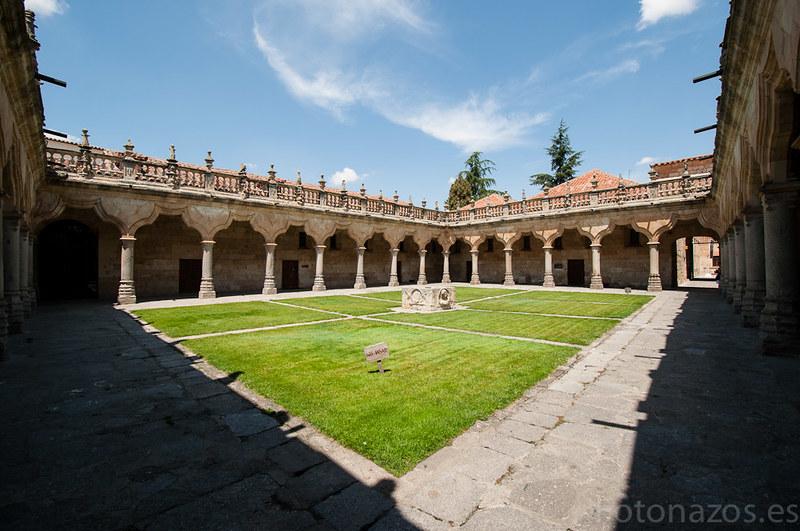 El patio de las escuelas menores de la Universidad de Salamanca