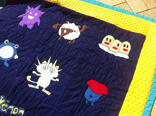 Pokemon Quilt (Top Right)