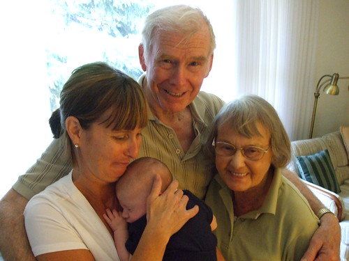 My mother, grandfather, grandmother, and nephew