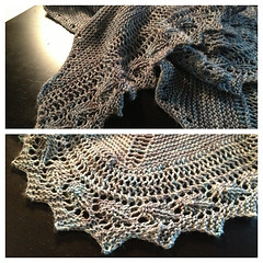Madradscientist's birthday shawl