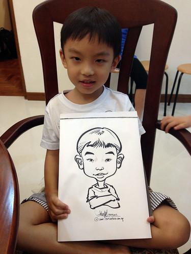 caricature live sketching for birthday party 14072012 - 3