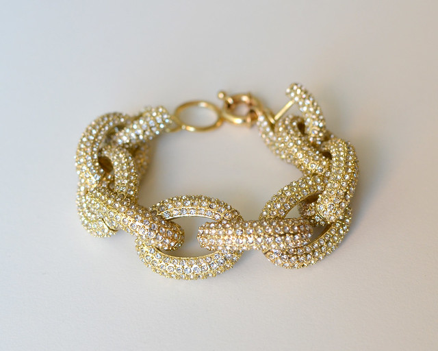 Yuni Kelley Designs J Crew Inspired crystal pave link bracelet