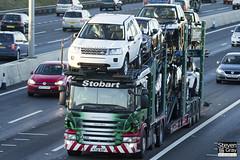 Scania P420 6x2 Car Transporter - AY12 AOP - Karen Marie - Green & Red - Eddie Stobart - M1 J10 Luton - Steven Gray - IMG_0612