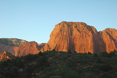 Navajo Sandstone (Lower Jurassic), Paria Point near sunset, Kolob Canyons, Zion National Park, sw Utah 9