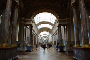 Renaissance Paintings Gallery in the Louvre