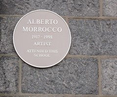 Photo of Alberto Morrocco yellow plaque