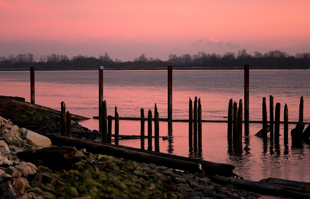 Fraser River View at Twilight