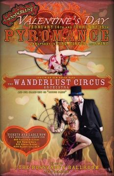 Portland Valentine's Day Wanderlust Circus Pyromance @ Bossanova Ballroom