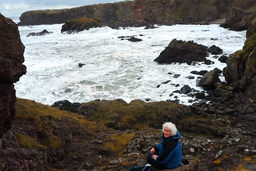 Me at this morning's coffee spot near Eyemouth in the Scottish Borders