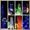 Various backgrounds at luminous night