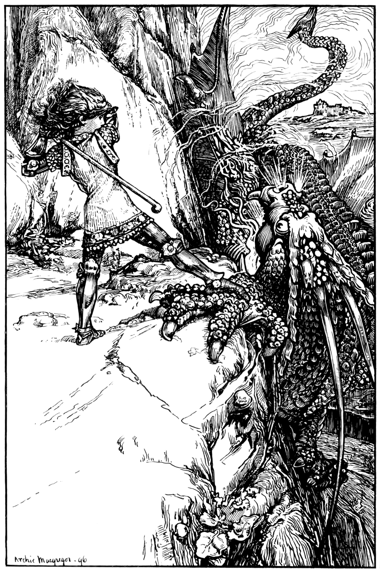 Archie MacGregor - Illustration from page 396 of Butterscotia or A Cheap Trip to Fairyland by Sir Edward Abbott Parry, 1896