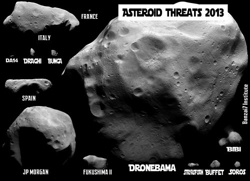 ASTEROID THREATS 2013 by Colonel Flick/WilliamBanzai7