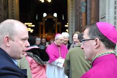 Bishop John Sherrington with RCIA Candidate