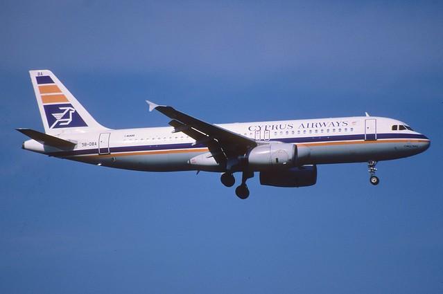 147an - Cyprus Airways Airbus A320-231; 5B-DBA@ZRH;18.08.2001