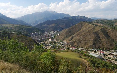 city autumn town october view armenia vista overlook province kapan armenian syunik