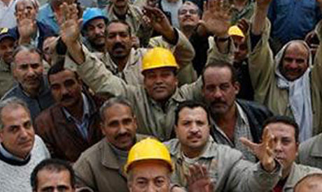 Egyptian cement workers were on strike in Alexandria. The work stoppage was broken up by security forces on February 17, 2013. by Pan-African News Wire File Photos