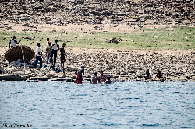 Indians taking holy dip in river waters