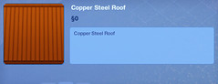 Copper Steel Roof