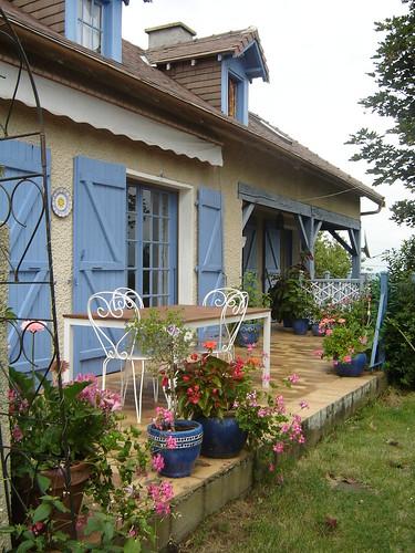 la terrasse de la maison Artigouha