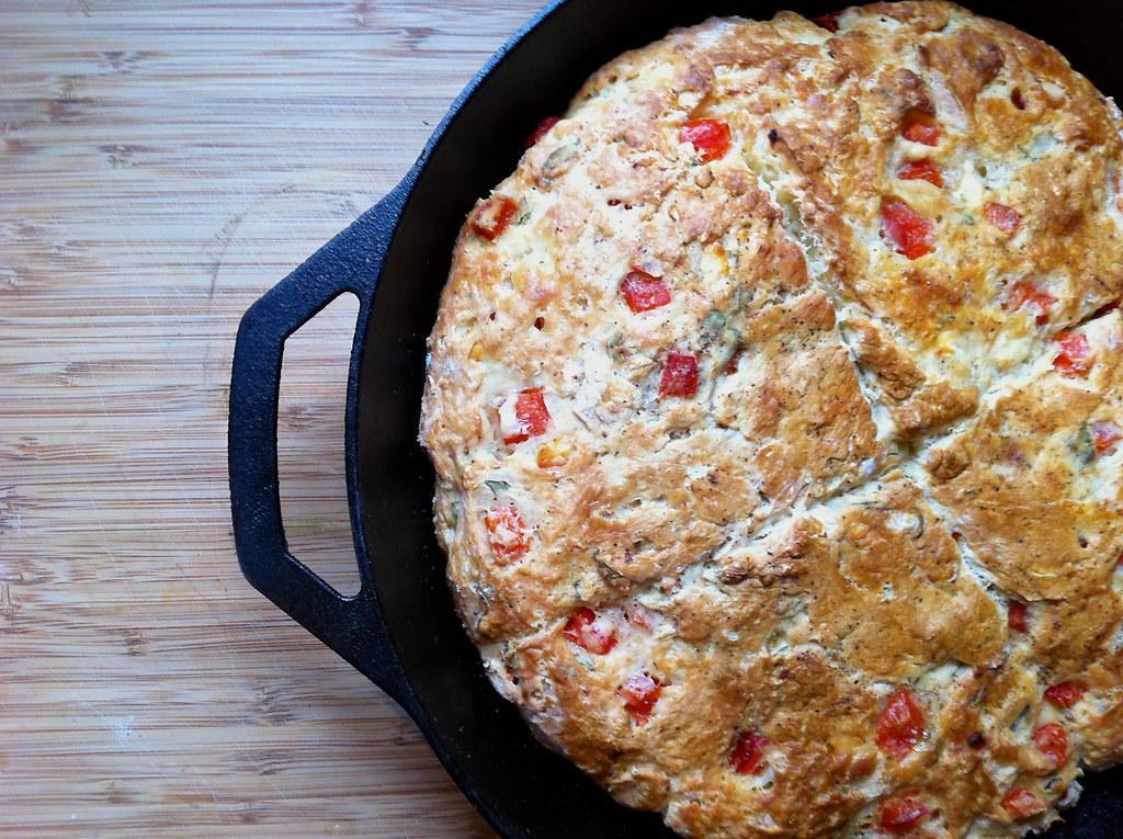 Baked skillet scone