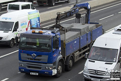 Foden Alpha 385 8x4 Dropside with Crane - Blue - Pawson Transport - BL53 MBO - M1 J10 - Steven Gray - IMG_1676