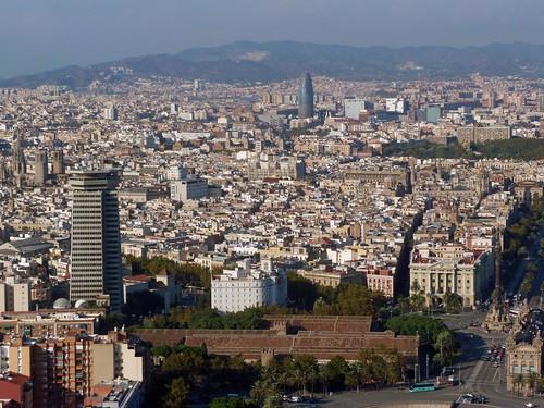 Imagen de Barcelona desde el aire (helicóptero por Barcelona)
