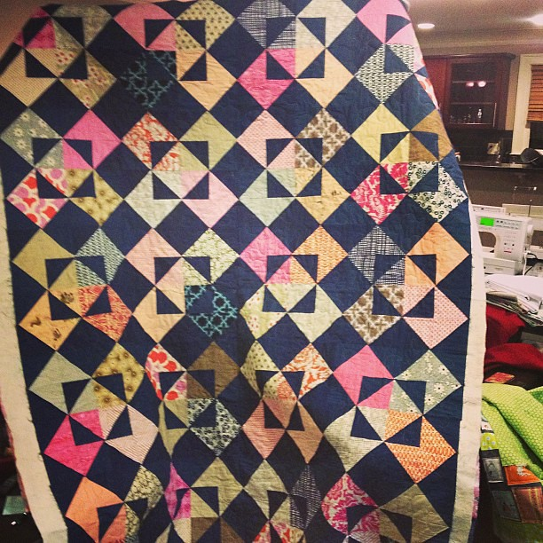 Finished quilting @meamom quilt!!!!