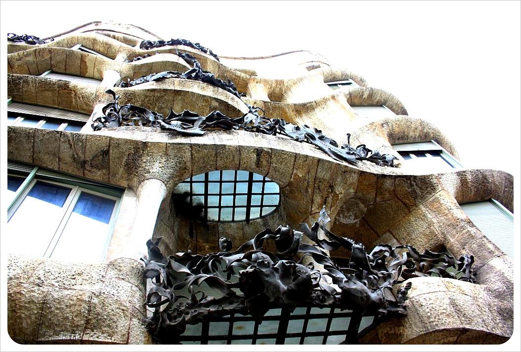 Gaudi balconies Barcelona