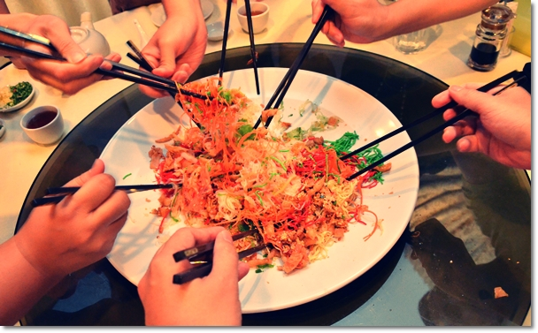 Tossing Yee Sang with Jellyfish