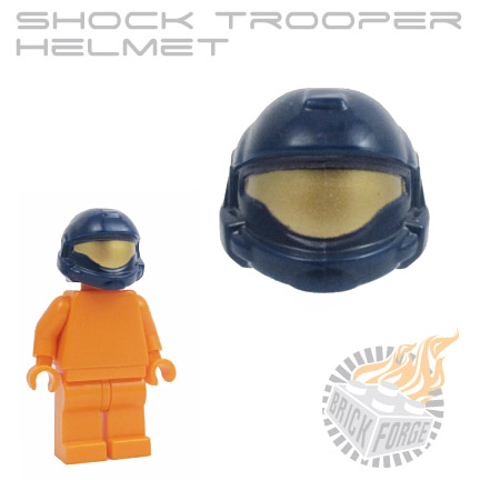 Shock Trooper Helmet - Dark Blue (gold visor print)