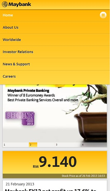 Maybank.com Mobile Navigation