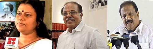 Bindu Krishna-PJ Kurien-K Sudhakaran