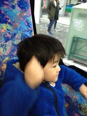 夕方散歩 ハチ公バス 2013/2/27