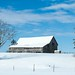 Winter Farm Scene Near Sault Ste Marie, MI by ER Post