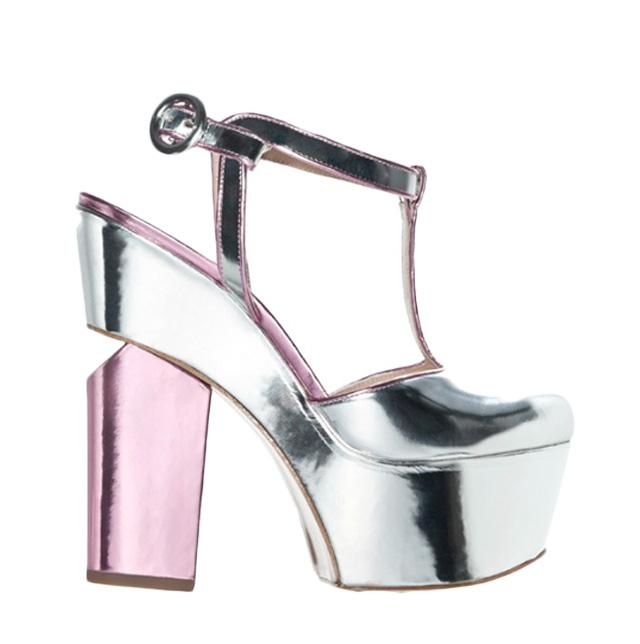 vintage platform shoe, SS2013, metallic, vintage, style blog my fair vanity